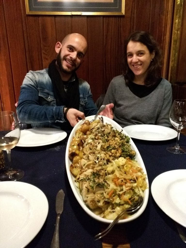 Henrique and Sara with a particularly stunning Bacalhau in Aveiro